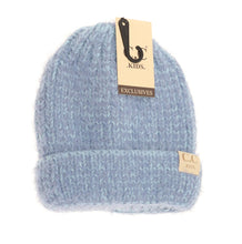 Load image into Gallery viewer, KIDS FUZZY SOLID BEANIE