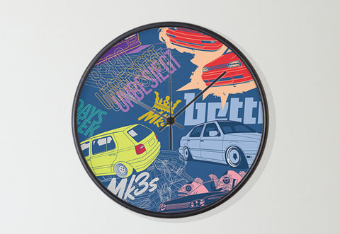 Mk3 Collage Wall Clock