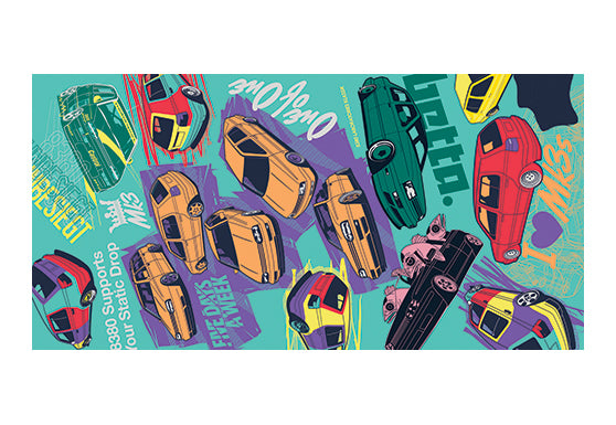 Mk3 Collage Beach Towel
