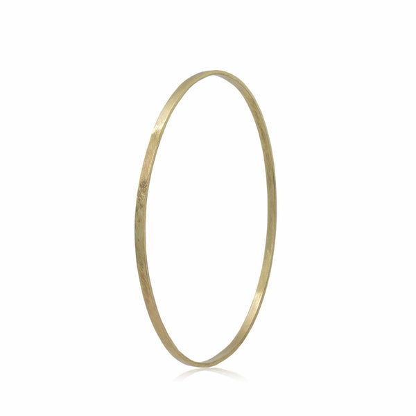 14K Textured Yellow Gold Bangle Bracelet/Cuff