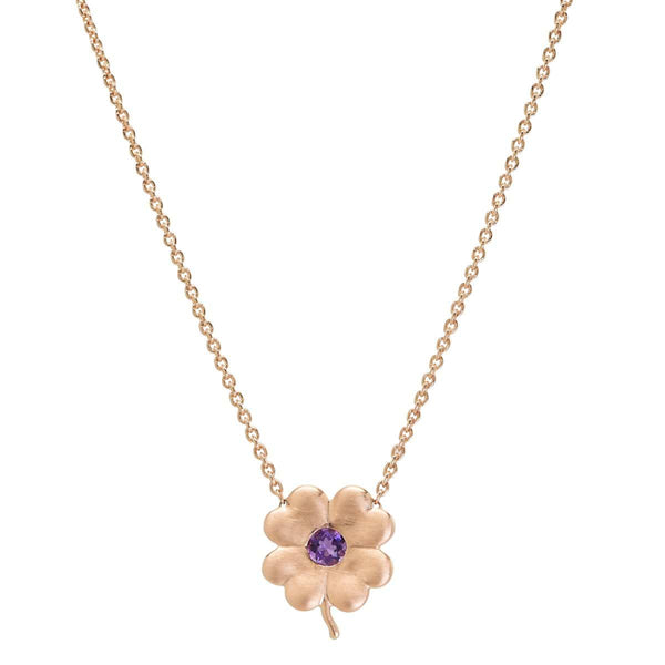 Amethyst Clover Necklace | February Necklace