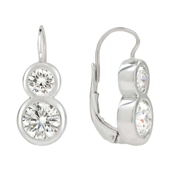 AX-Diamond Solitaire Twist Earrings