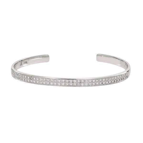 AX-Double Row Cuff | White Gold & Diamond Bracelet/Cuff