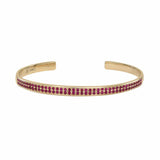AX-Double Row Cuff | Yellow Gold & Ruby Bracelet/Cuff