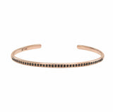 AX-Single Row Cuff | Rose Gold & Black Diamond Bracelet/Cuff