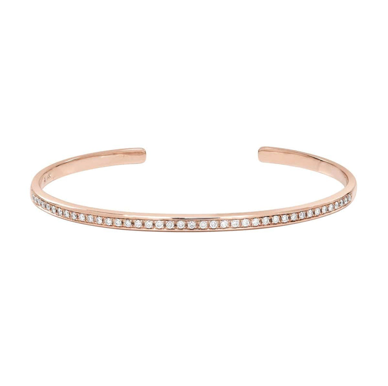 AX-Single Row Cuff | Rose Gold & Diamond