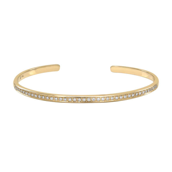 AX-Single Row Cuff | Yellow Gold & Diamond Bracelet/Cuff
