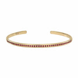 AX-Single Row Cuff | Yellow Gold & Ruby Bracelet/Cuff