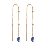 Blue Sapphire Threader Earrings | September