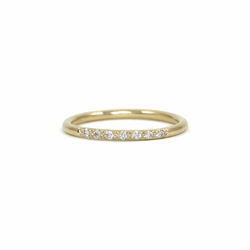 Dash of Pave Band Ring
