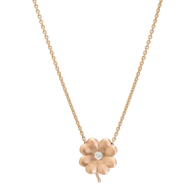 Diamond Birthstone Clover | April Necklace