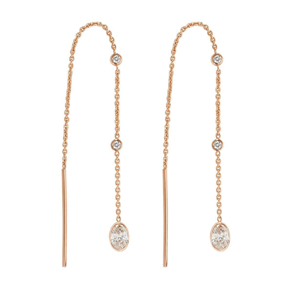 Diamond Threader Earrings | April Earrings