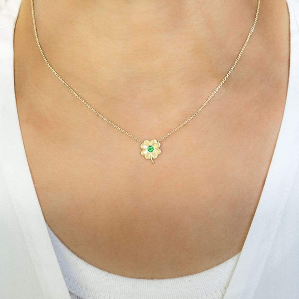 Emerald Birthstone Clover | May Necklace