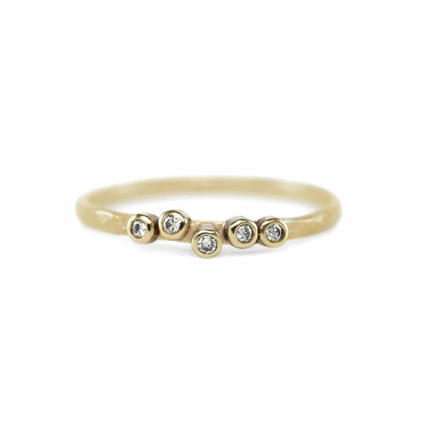 Five Diamond Stacking Ring Ring