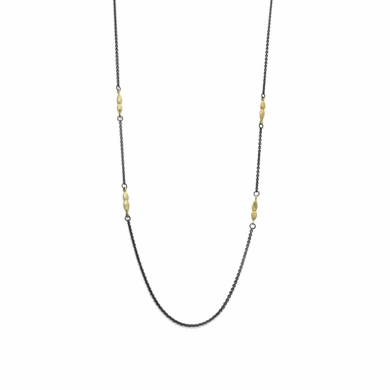 Long Black & Gold Necklace