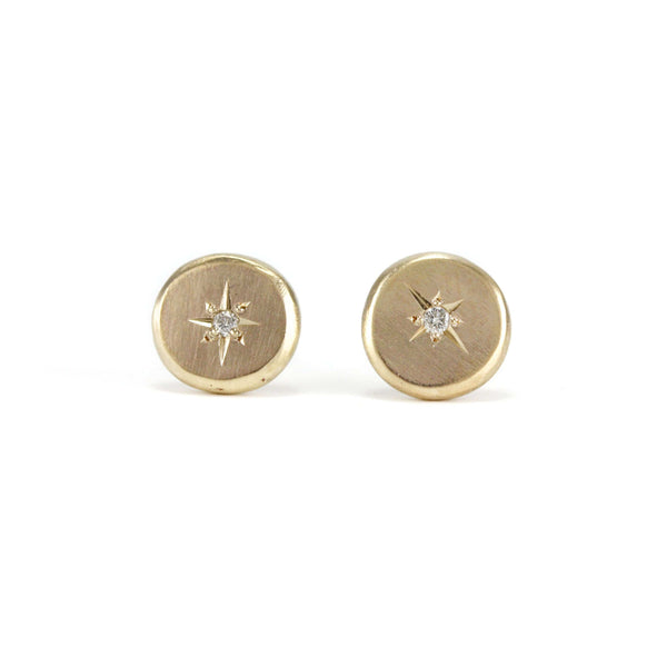 North Star Diamond Studs Earrings