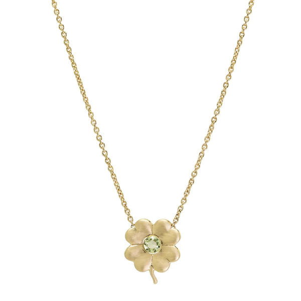 Peridot Birthstone Clover | August Necklace