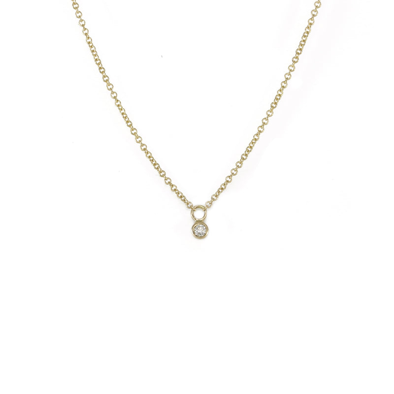 Petite Diamond Drop Necklace Necklace
