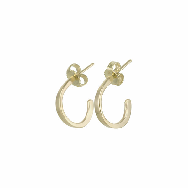 Petite Huggie Forged Hoops Earrings