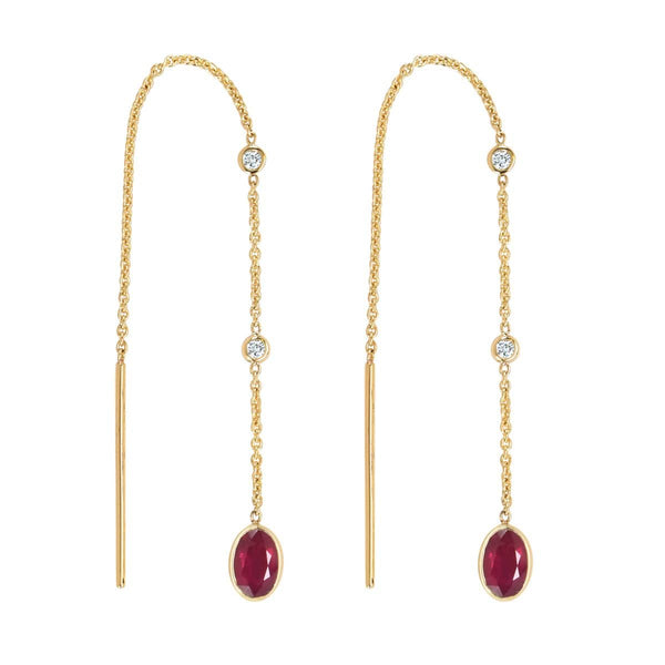 Ruby Threader Earrings | July Earrings