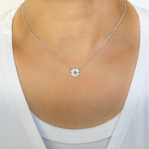 Tanzanite Birthstone Clover | December Necklace