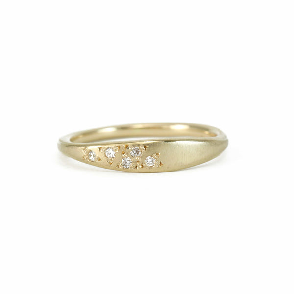 Tapered Cluster Five Diamond Ring Ring