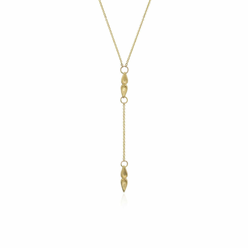 "Textured 14K Yellow Gold ""Y"" Necklace Necklace"