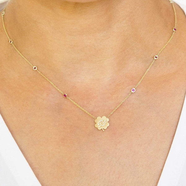 The Cancer Zodiac Clover Necklace