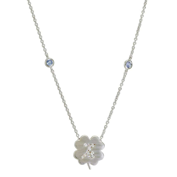 The Capricorn Zodiac Clover Necklace Capricorn/Tanzanite