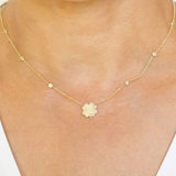 The Gemini Zodiac Clover Necklace