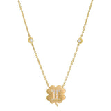 The Gemini Zodiac Clover Necklace Gemini/Moonstone