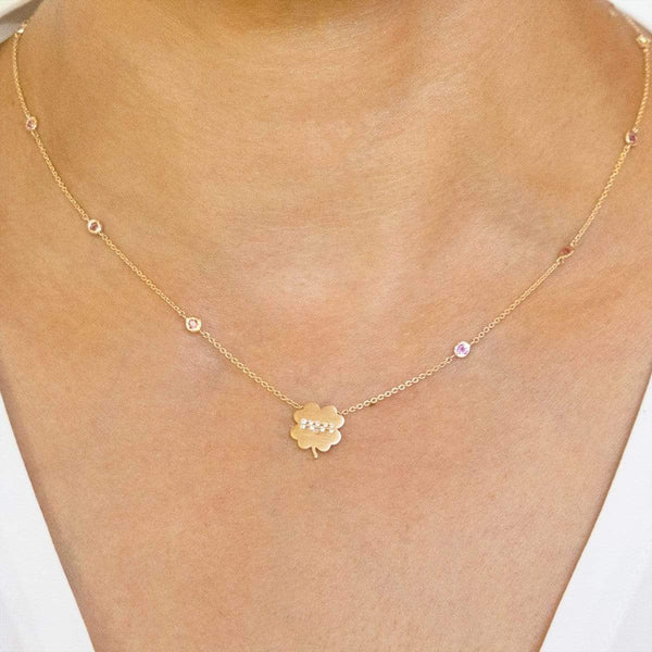 The Libra Zodiac Clover Necklace