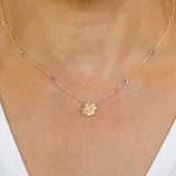 The Pisces Zodiac Clover Necklace