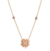 The Pisces Zodiac Clover Necklace Pisces/Amethyst