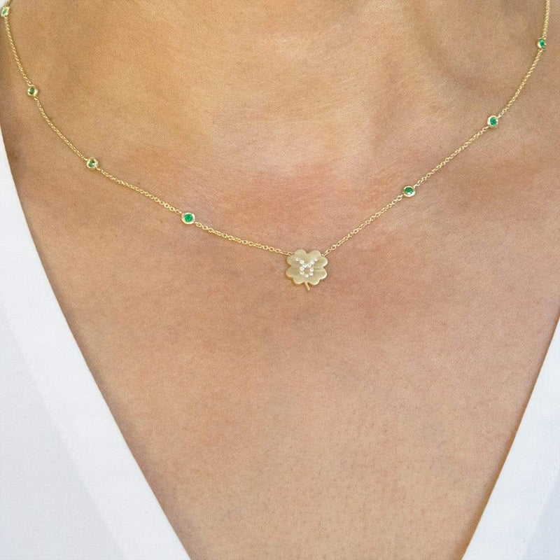 The Taurus Zodiac Clover Necklace
