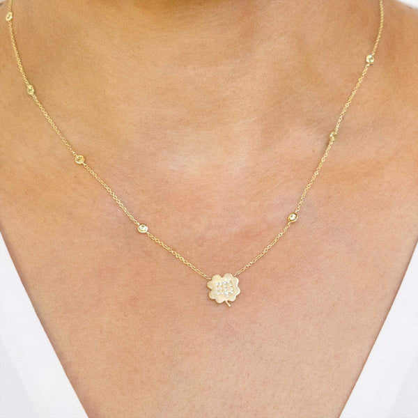 The Virgo Zodiac Clover Necklace