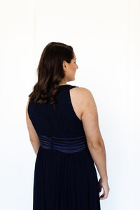 Navy Gown Plus Size Dress Hire