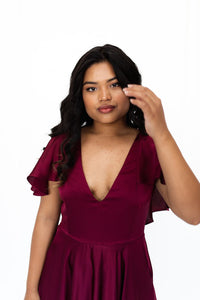 v\Cardi Merlot Red Dress Revoque Online