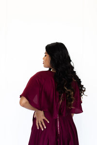 Cardi Merlot Red Dress Revoque Online