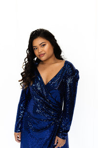 disco blue sequin dress by red herring