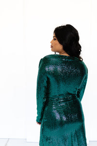Disco Green Sequin Mini