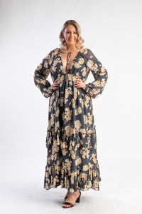 In The Mix Gown Talulah - Floral long sleeve maxi dress