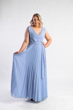 Load image into Gallery viewer, Cornflower blue pleated dress