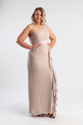 TFNC One shoulder maxi dress with frill