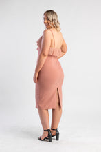 Load image into Gallery viewer, Blush bodycon dress with ruffle