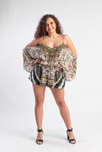 Load image into Gallery viewer, Camilla playsuit with tribal pattern and beading