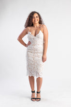 Load image into Gallery viewer, White lace daphne dress