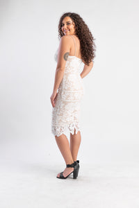 White lace daphne dress