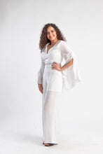 Load image into Gallery viewer, Never Too Far white jumpsuit Bariano