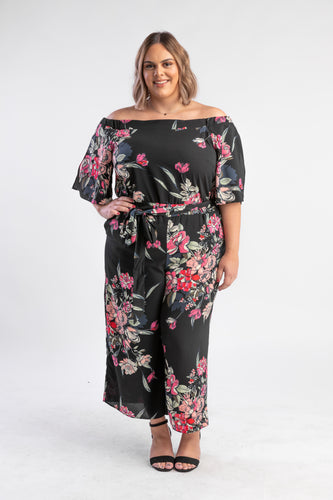 Misty Floral Jumpsuit City Chic